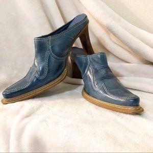 Wild Pair | Western style leather heeled mule boho
